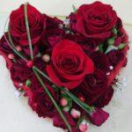 coeur de rose à Besançon, composition anniversaire